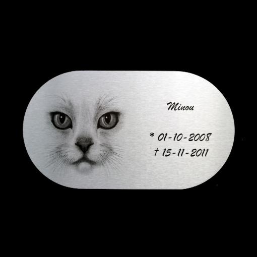 Gedenkplaat kat